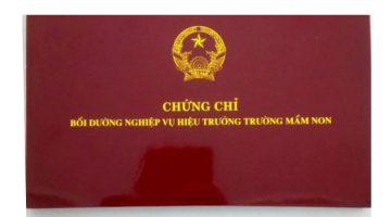 Đào Tạo Chứng Chỉ Hiệu Trưởng Mầm Non Tại Hồ Chí Minh