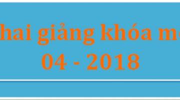 Các lớp chứng chỉ sư phạm khai giảng tháng 04-2018